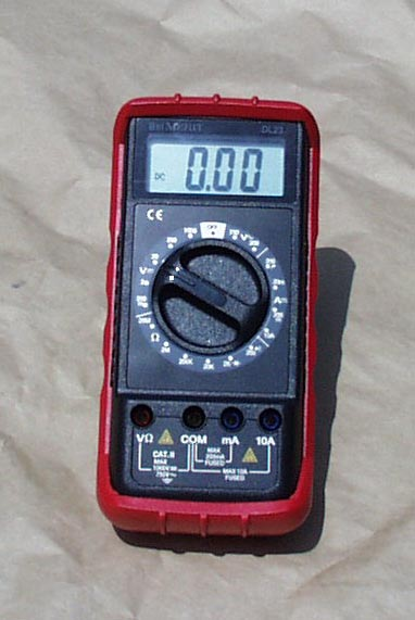 A digital multimeter will help in testing and learning more about fuel cells.