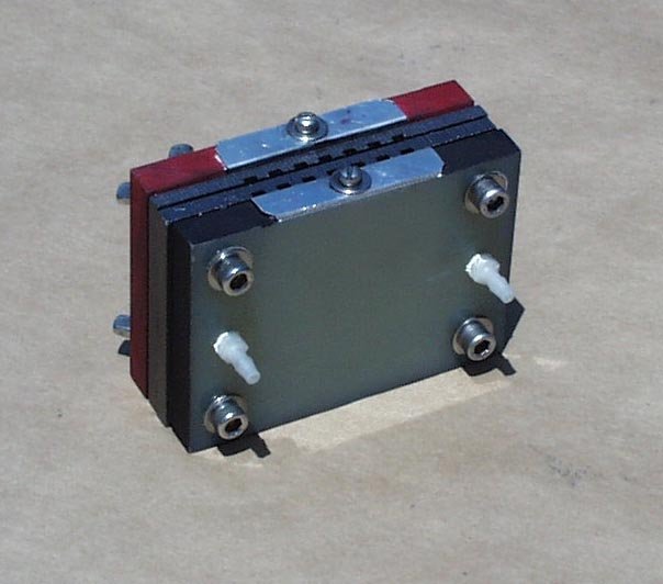 A Single Slice PEM fuel cell, 1/2 and 1 watt versions available.